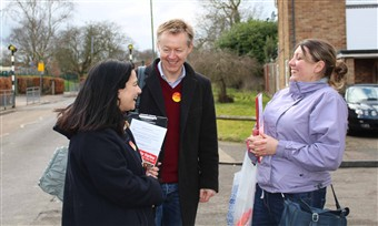 Stephen with campaigners Harlow
