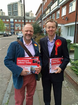 Campaigning as part of the Oval Labour team in Bermondsey and Old Southwark